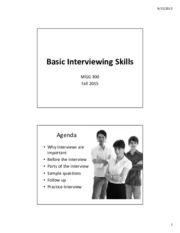 Basic Interviewing Slides Fall 2015