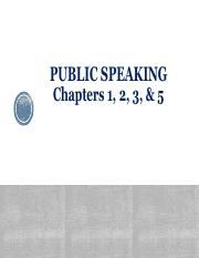 Public Speaking PowerPoint (Chapters 1 - 20)