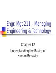 ch12 Understanding the Basics of Human Behavior.ppt