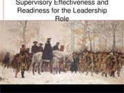 HRD 3 - Supervisory Effectiveness