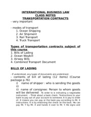 6) Transportation Contracts
