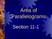 11-1 Areas of Parallelograms