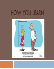 Chapter 04 - How You Learn_PPT