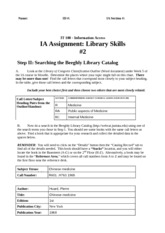 Library Skills Assignment #2