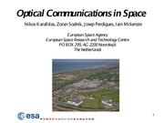 Optical Communications in Space
