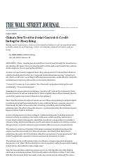 China's New Tool for Social Control_ A Credit Rating for Everything - WSJ 2016-11-28.pdf