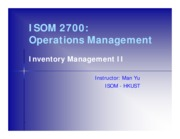 L18 Inventory Management II