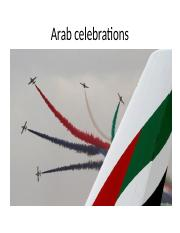 Celebration in the Arab World