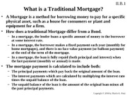 Mortgages and Depreciation