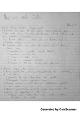 The Roman Republic and Empire - Marius and Sulla Notes