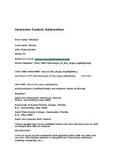 Instructor Contact Information.docx