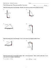 Worksheets Converse Of Pythagorean Theorem Worksheet converse pythagorean theorem worksheet mercy association worksheet