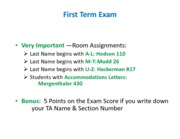Econ101Fall2012_Instructions for First Term Exam