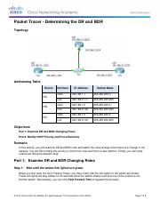 5.1.2.12 Packet Tracer - Determining the DR and BDR Instructions