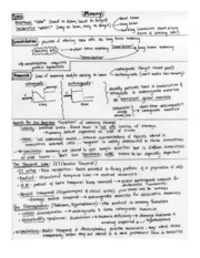Review Sheet-Memory