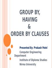 20Group By, Having & Order By