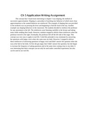 Ch 5 Application Writing Assignment, psy 3011