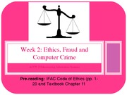 ACCY 225 Week 2 Fraud Ethics