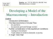 Developing a Macro Model -- Introduction