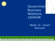 Week 13 Exam and Revision