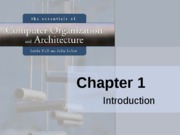 #2 Introduction to Computer Organization