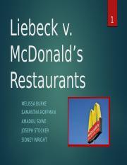 Group Project Injurypptx Liebeck V Mcdonalds Restaurants Injury