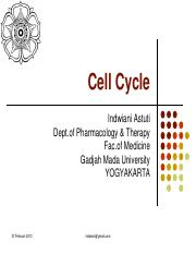 4. CEll Cycle 2722012
