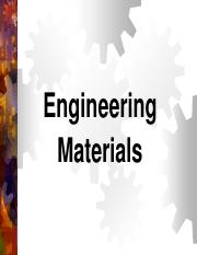 Lecture 6 - Engineering materials