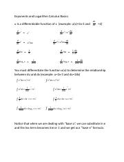 Exponents and Logarithm Calculus Basics (1).docx