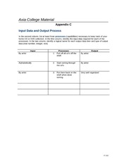 it210 r5 appendix d 2 Appendix d it/210 version 5 1 associate program material appendix d software development activities and purposes match the activity or purpose on the left with the appropriate description on the right by typing in the corresponding letter under the answer column.