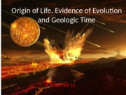 origins and geologic time1415