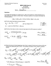 MECH 3020 Fall 2013 Quiz 6 Solution