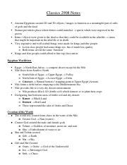 Classics 2908 Midterm Notes