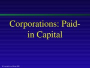 Corporations Paid-in Capital