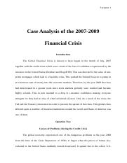Causes of Financial Crisis.doc
