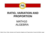 Ratio Variation Proportion Lesson 2