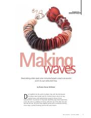 Polymer clay - Making Waves bracelet