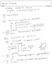 Spherical Coordinates Proof