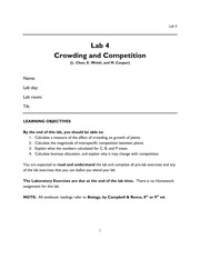 lab Crowding and Competition