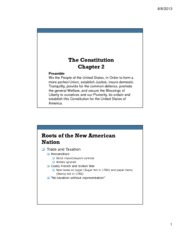Ch 2 The Constitution