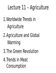 Lecture 11 - Agriculture - A2L