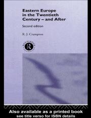 R.j. Crampton-Eastern Europe in the Twentieth Century--and After-Routledge (1997).pdf