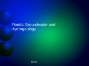 Lecture 14 Florida Groundwater