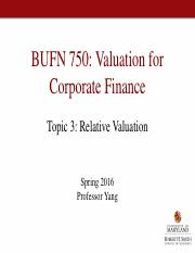 Topic3_Relative Valuation