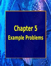 Chapter 5 EXAMPLES