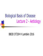 BBOD Lecture 2 H Lambkin Aetiology 2nd year