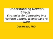 Chapter 7 - Network Effects