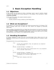 Chapter 12-Basic Exception Handling.doc