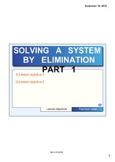 ELIMINATION PART 1 NOTE0