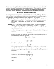4.1 Related Rates Problems